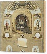 Union Certificate, 1877 Wood Print