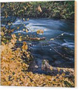 Union Creek In Autumn Wood Print