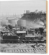 Union Locomotive, C1864 Wood Print