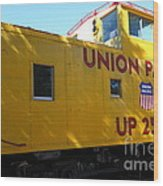 Union Pacific Caboose - 5d19205 Wood Print by Wingsdomain Art and Photography