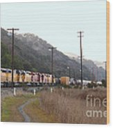Union Pacific Locomotive Trains . 7d10558 Wood Print