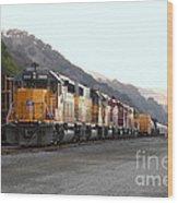 Union Pacific Locomotive Trains . 7d10561 Wood Print