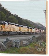 Union Pacific Locomotive Trains . 7d10564 Wood Print