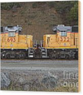 Union Pacific Locomotive Trains . 7d10573 Wood Print by Wingsdomain Art and Photography