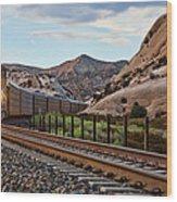Union Pacific Tracks Wood Print
