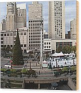 Union Square Sf Wood Print by Ron Bissett
