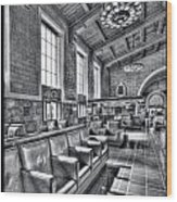 Union Station L.a. Seats 1 Wood Print