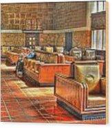 Union Station L.a. Waiting Color Wood Print