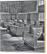 Union Station L.a. Waiting Wood Print
