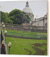 Union Terrace Gardens Aberdeen Wood Print by Karen Kennedy