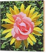 Unique Sun Rose Wood Print
