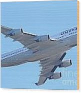 United Airlines Boeing 747 . 7d7838 Wood Print