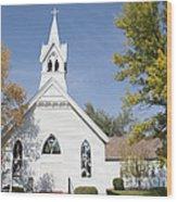 United Methodist Church Townsend Mt Wood Print