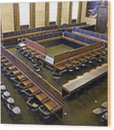 United Nations Council Chamber Wood Print