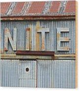 United Rusted Metal Sign Wood Print