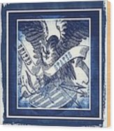 United States Blue Wood Print