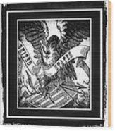 United States Bw Wood Print