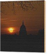 United States Capitol At Sunrise Wood Print