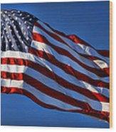 United States Of America - Usa Flag Wood Print