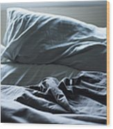 Unmade Bed Wood Print by Sam Bloomberg-rissman