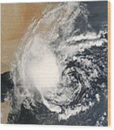 Unnamed Tropical Cyclone Approaching Wood Print