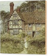 Unstead Farm Godalming Wood Print