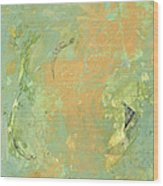 Untitled Abstract - Caramel Teal Wood Print