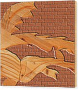 Up Against A Brick Wall Wood Print