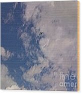 Up In The Clouds 3 Wood Print