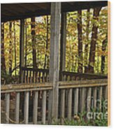 Up North Porch Wood Print
