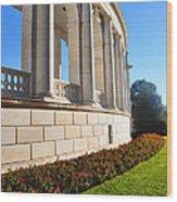 Upclose Of Arlington Memorial Amphitheater Wood Print