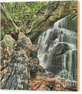 Upper Cascade Hidden Falls Wood Print