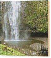 Upper Cascade Pool Multnomah Falls Or Wood Print