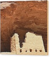 Upper Cliff Dwelling Wood Print
