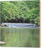 Upper Creek Reflections Wood Print