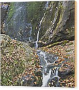 Upper Dark Hollow Falls In Shenandoah National Park Wood Print by Pierre Leclerc Photography