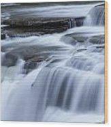 Upper Falls Detail Wood Print