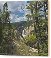 Upper Falls II Wood Print