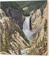 Upper Falls Yellowstone Wood Print