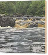 Upper Gabbro Falls Wood Print