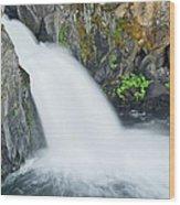Upper Mccloud Falls 2 Wood Print
