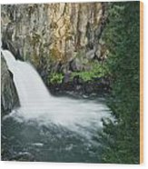 Upper Mccloud Falls Wood Print