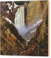 Upper Yellowstone Falls Wood Print