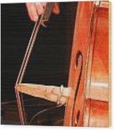Upright Bass 1 Wood Print