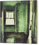 Upstairs Hallway In Old House Wood Print by Jill Battaglia