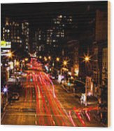 Uptown From Highline Wood Print
