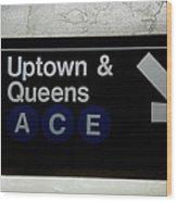 Uptown Train Wood Print