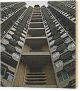Upward View Of A Public Housing Wood Print by Justin Guariglia
