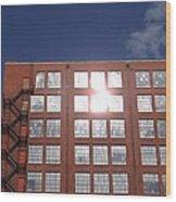 Urban Glare Wood Print