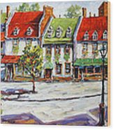 Urban Montreal Street By Prankearts Wood Print